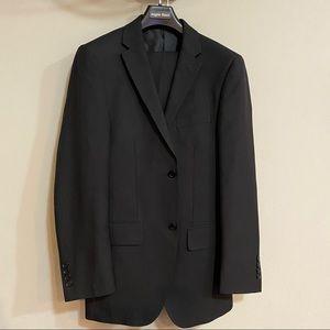 ANGELO ROSSI Men's Striped Black 2 Piece Suit 34R